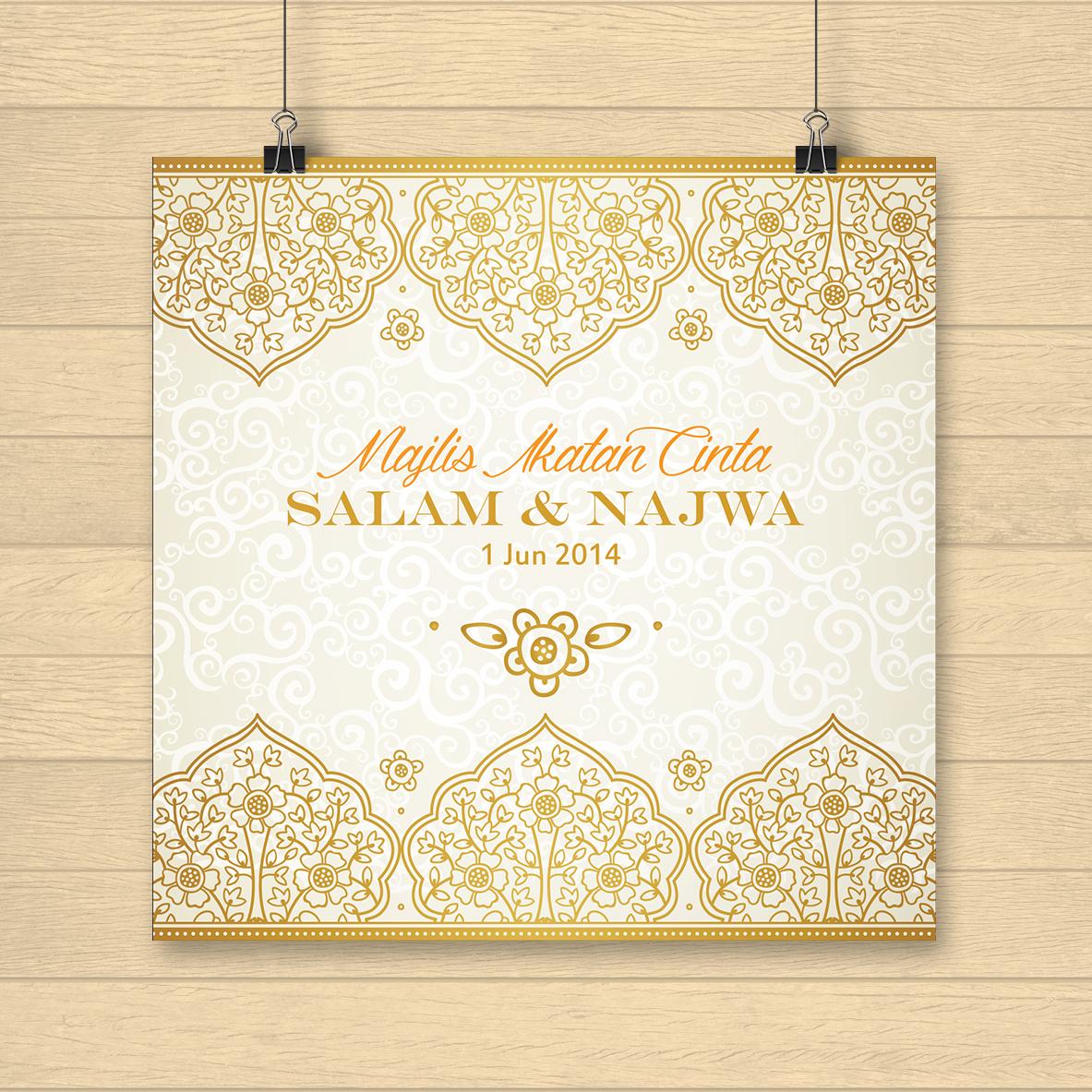 Islamic Theme Sweet Kad